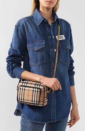 Женская сумка camera BURBERRY бежевого цвета, арт. 8021282   Фото 2