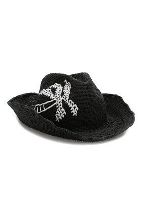 Женская шляпа GIORGIO ARMANI черного цвета, арт. 797311/0P508   Фото 1