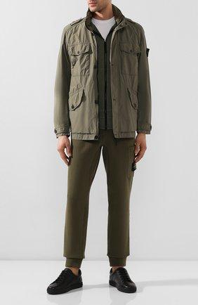 Мужская куртка STONE ISLAND хаки цвета, арт. 721543532 | Фото 2