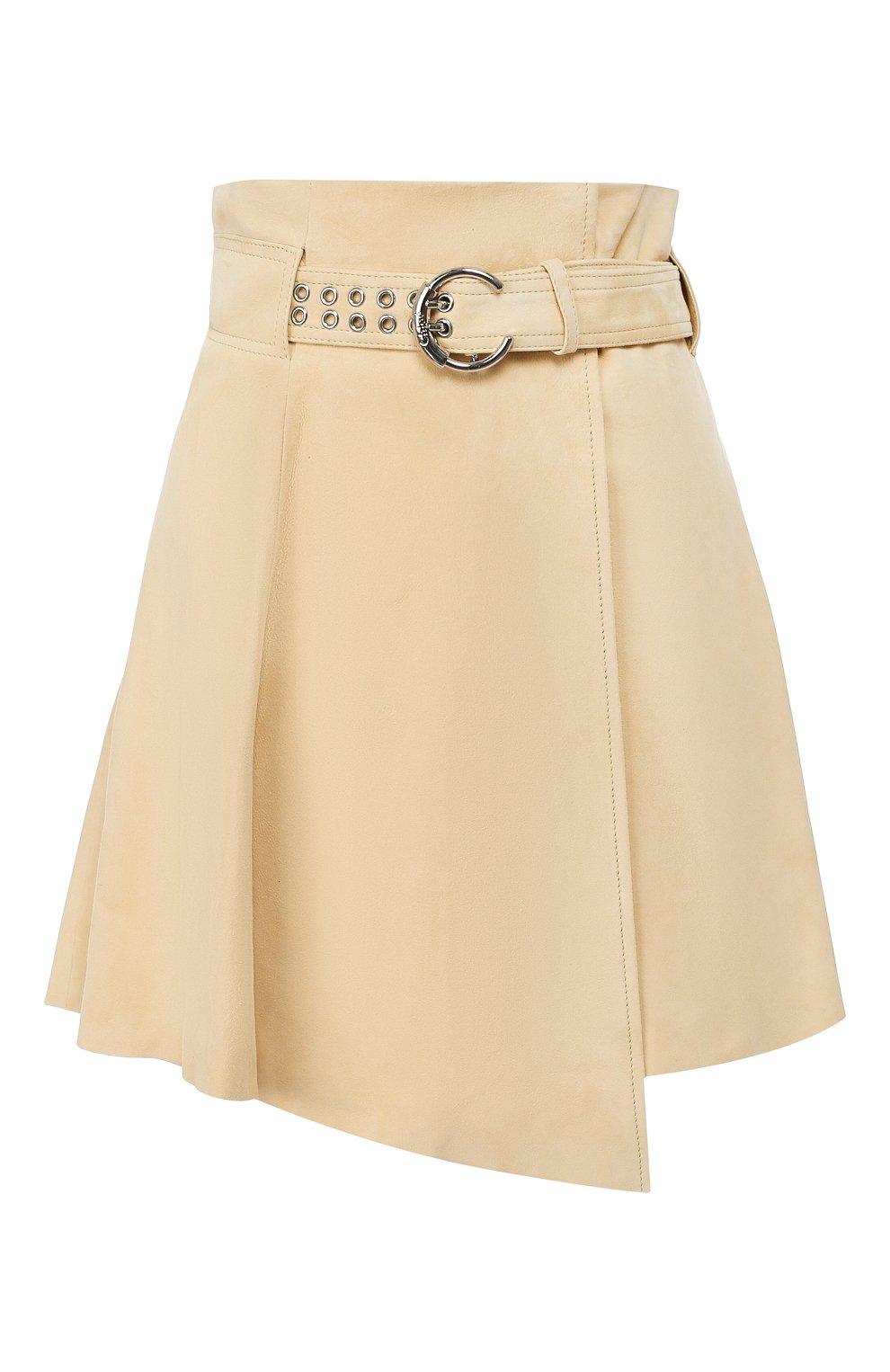 Женская кожаная юбка CHLOÉ бежевого цвета, арт. CHC20SCJ15201 | Фото 1