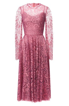 Женское кружевное платье DOLCE & GABBANA розового цвета, арт. F6H2JT/HLM08 | Фото 1