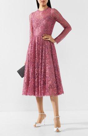 Женское кружевное платье DOLCE & GABBANA розового цвета, арт. F6H2JT/HLM08 | Фото 2
