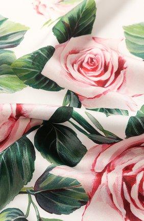 Женский шелковый платок DOLCE & GABBANA белого цвета, арт. FN092R/GDS16 | Фото 2