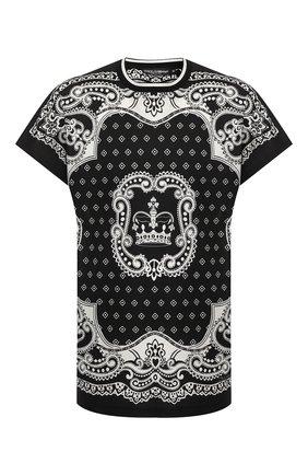 Мужская хлопковая футболка DOLCE & GABBANA черного цвета, арт. G8LC1T/FI7HC   Фото 1