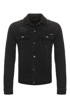 Мужская джинсовая куртка DOLCE & GABBANA черного цвета, арт. G9JC2D/G8BR3 | Фото 1