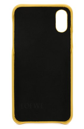 Мужской кожаный чехол для iphone x/xs LOEWE желтого цвета, арт. 103.30AB07   Фото 2