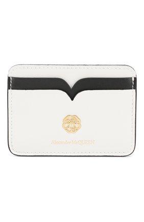 Женский кожаный футляр для кредитных карт ALEXANDER MCQUEEN белого цвета, арт. 610198/1CWDT | Фото 1