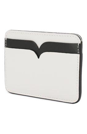 Женский кожаный футляр для кредитных карт ALEXANDER MCQUEEN белого цвета, арт. 610198/1CWDT | Фото 2