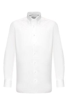 Мужская хлопковая сорочка ZILLI белого цвета, арт. MFT-MERCU-13015/RZ01 | Фото 1
