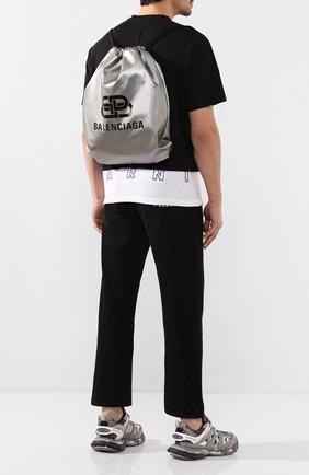 Мужской рюкзак BALENCIAGA серебряного цвета, арт. 593648/HR515 | Фото 2