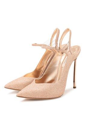 Женская туфли CASADEI золотого цвета, арт. 1H730P120MC04133306 | Фото 1