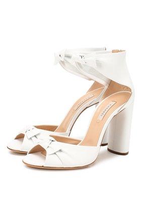 Женские кожаные босоножки CASADEI белого цвета, арт. 1L530P1001MIN0R9999 | Фото 1
