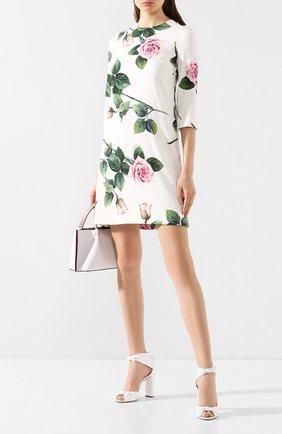 Женские кожаные босоножки CASADEI белого цвета, арт. 1L530P1001MIN0R9999 | Фото 2