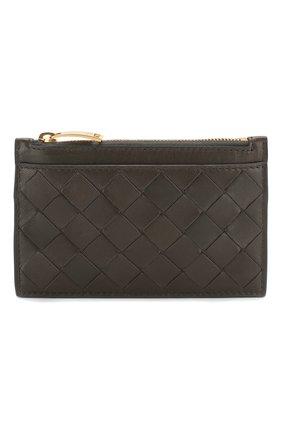 Женская кожаный футляр для ключей BOTTEGA VENETA темно-серого цвета, арт. 608784/VCPP3 | Фото 1