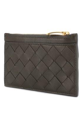 Женская кожаный футляр для ключей BOTTEGA VENETA темно-серого цвета, арт. 608784/VCPP3 | Фото 2