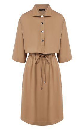 Женское шерстяное платье KITON бежевого цвета, арт. D49305K09S16 | Фото 1