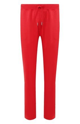 Мужские хлопковые брюки KITON красного цвета, арт. UK1051 | Фото 1 (Материал внешний: Хлопок; Мужское Кросс-КТ: Брюки-трикотаж; Случай: Повседневный; Длина (брюки, джинсы): Стандартные)