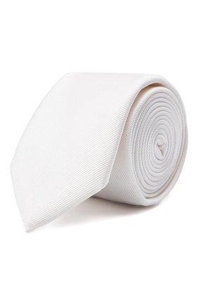 Мужской шелковый галстук DOLCE & GABBANA белого цвета, арт. GT149E/G0U46 | Фото 1