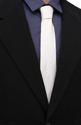 Мужской шелковый галстук DOLCE & GABBANA белого цвета, арт. GT149E/G0U46 | Фото 2