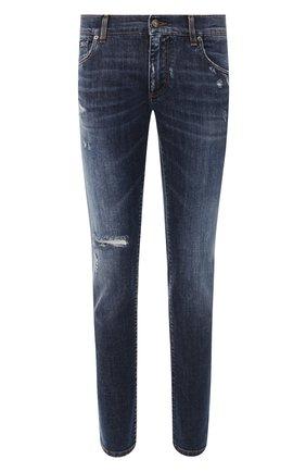 Мужские джинсы DOLCE & GABBANA синего цвета, арт. GY07LD/G8CA2   Фото 1