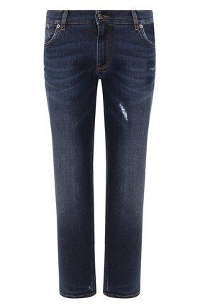 Мужские джинсы DOLCE & GABBANA темно-синего цвета, арт. GYQFCD/G8BE1   Фото 1