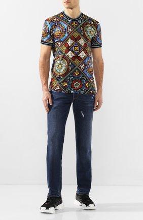 Мужские джинсы DOLCE & GABBANA темно-синего цвета, арт. GYQFCD/G8BE1   Фото 2