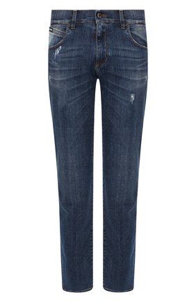 Мужские джинсы DOLCE & GABBANA синего цвета, арт. GYQFCD/G8BY6   Фото 1