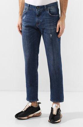 Мужские джинсы DOLCE & GABBANA синего цвета, арт. GYQFCD/G8BY6   Фото 3