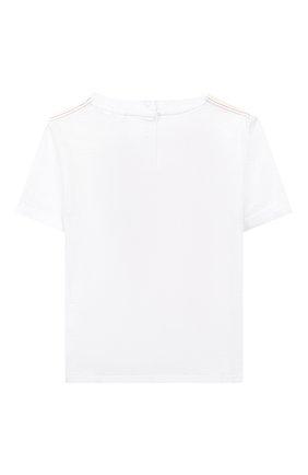 Детский хлопковая футболка STELLA MCCARTNEY белого цвета, арт. 588361/S0J77 | Фото 2