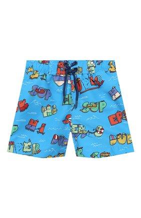 Детского плавки-шорты STELLA MCCARTNEY синего цвета, арт. 588379/S0K28 | Фото 1