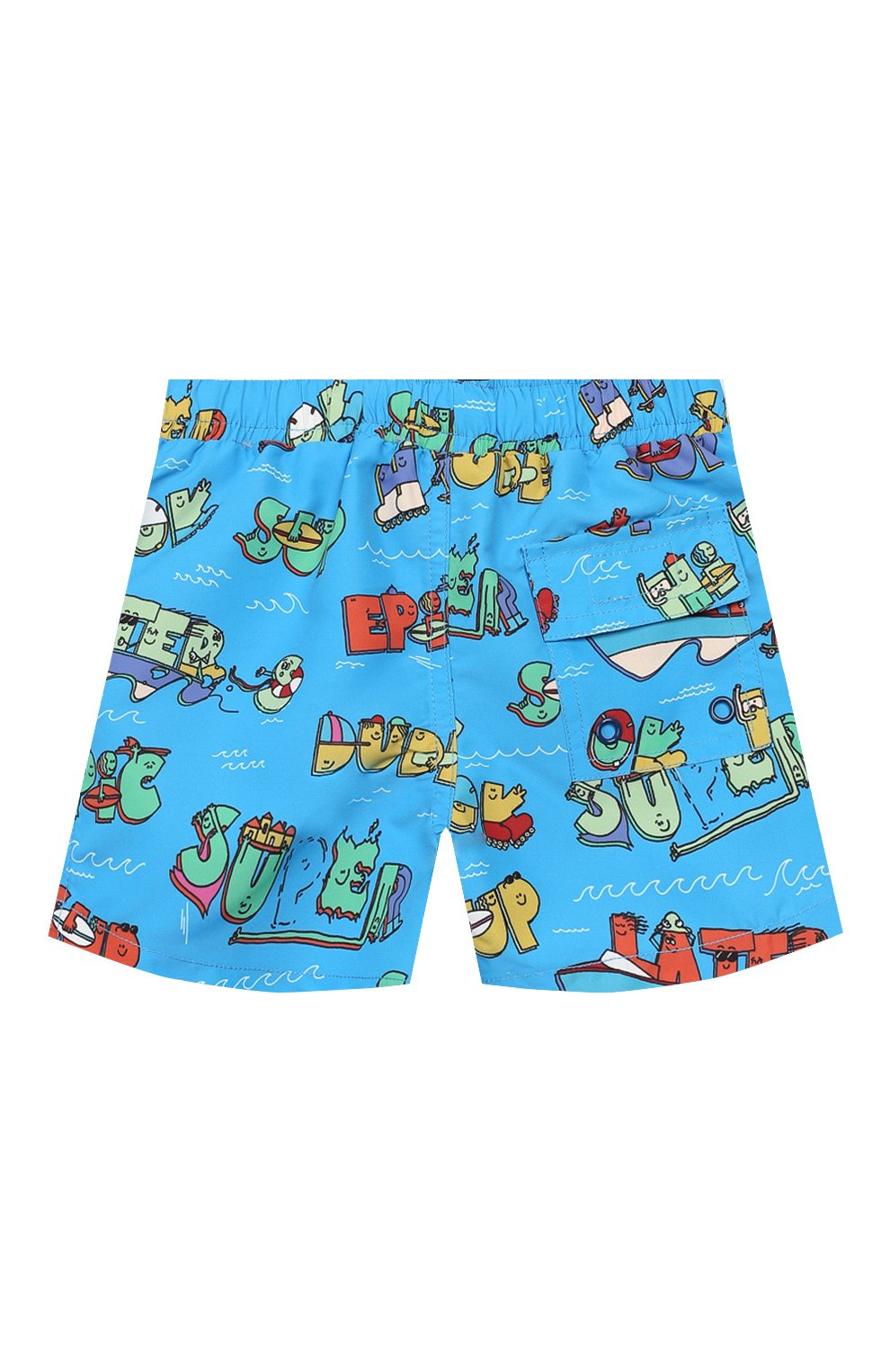 Детского плавки-шорты STELLA MCCARTNEY синего цвета, арт. 588379/S0K28 | Фото 2