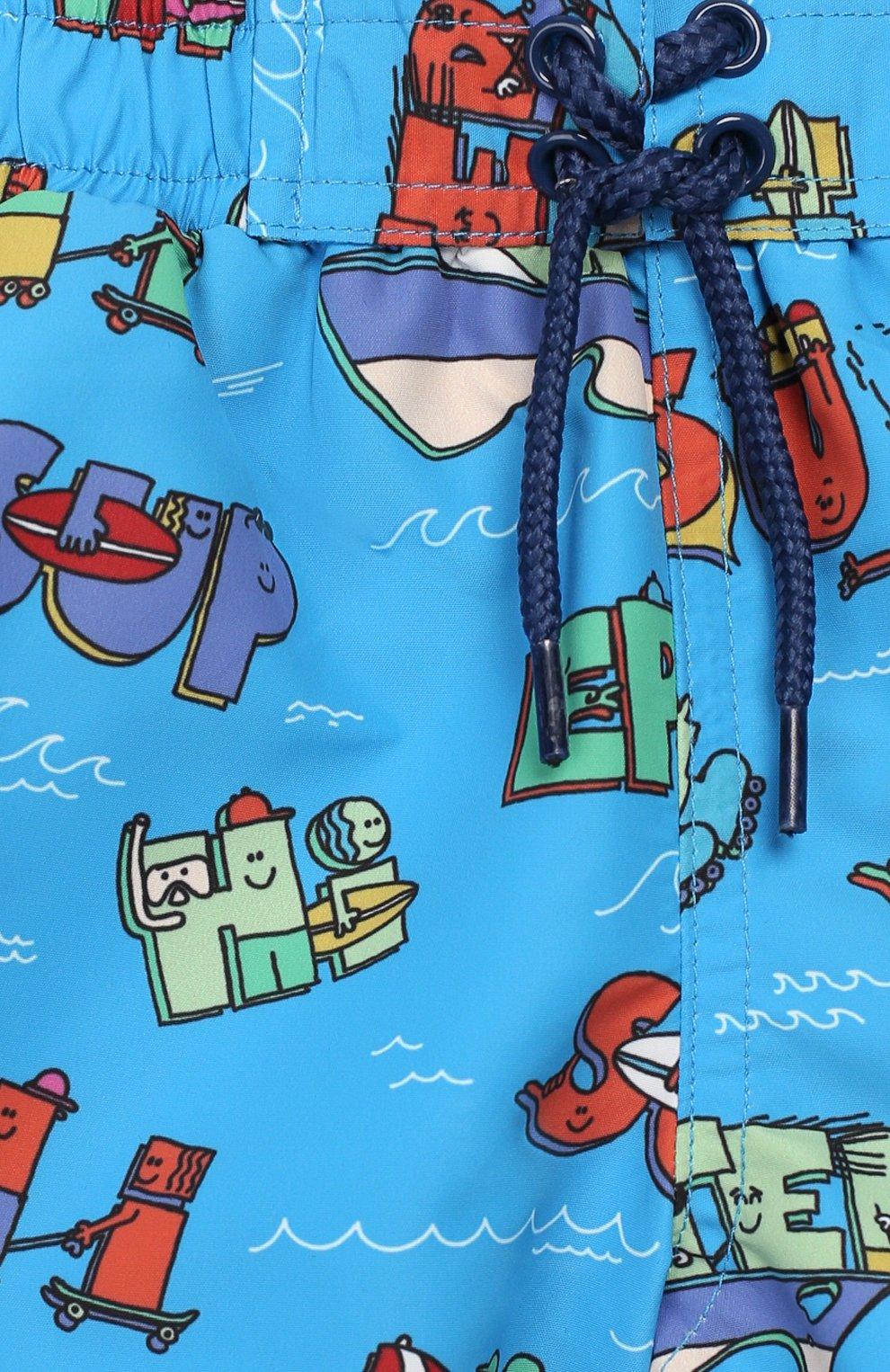 Детского плавки-шорты STELLA MCCARTNEY синего цвета, арт. 588379/S0K28 | Фото 3