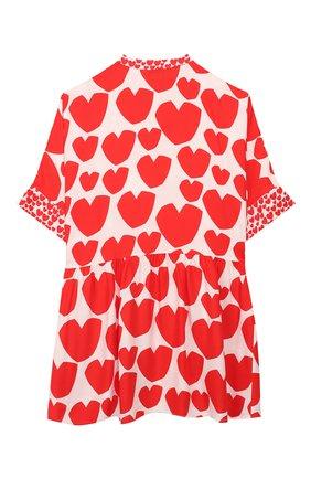 Детское платье STELLA MCCARTNEY красного цвета, арт. 588680/S0K55 | Фото 2