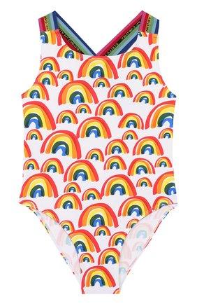 Детского слитный купальник STELLA MCCARTNEY разноцветного цвета, арт. 589068/S0K06 | Фото 1