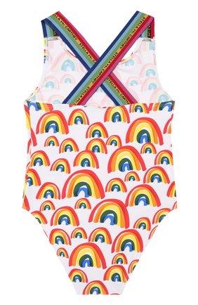 Детского слитный купальник STELLA MCCARTNEY разноцветного цвета, арт. 589068/S0K06 | Фото 2
