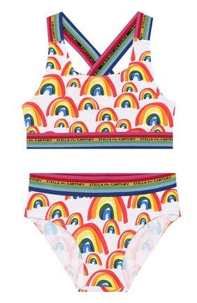 Детского раздельный купальник STELLA MCCARTNEY разноцветного цвета, арт. 589069/S0K06 | Фото 1