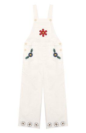 Детский хлопковый комбинезон STELLA MCCARTNEY белого цвета, арт. 589387/S0KA1 | Фото 1