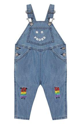Детский джинсовый комбинезон STELLA MCCARTNEY синего цвета, арт. 589569/S0K95 | Фото 1
