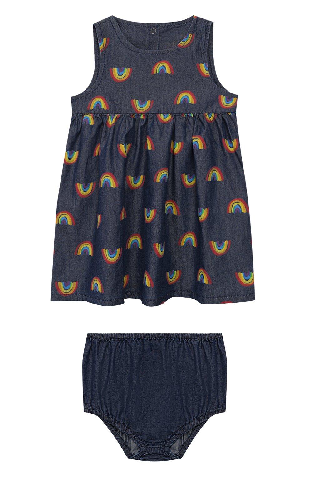 Женская комплект из платья и шорт STELLA MCCARTNEY синего цвета, арт. 589583/S0K82 | Фото 1