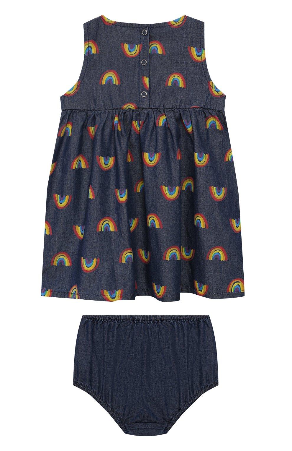 Женская комплект из платья и шорт STELLA MCCARTNEY синего цвета, арт. 589583/S0K82 | Фото 2
