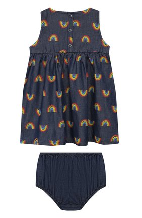 Женский комплект из платья и шорт STELLA MCCARTNEY синего цвета, арт. 589583/S0K82 | Фото 2