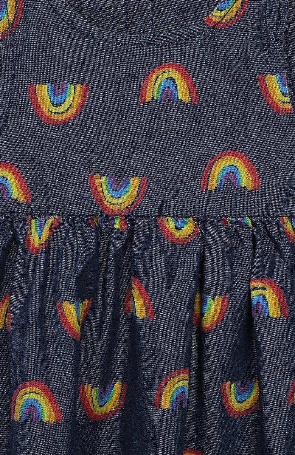 Женская комплект из платья и шорт STELLA MCCARTNEY синего цвета, арт. 589583/S0K82 | Фото 3