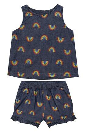 Детский комплект из топа и шорт STELLA MCCARTNEY синего цвета, арт. 589586/S0K82 | Фото 1