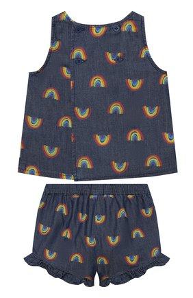 Детский комплект из топа и шорт STELLA MCCARTNEY синего цвета, арт. 589586/S0K82 | Фото 2