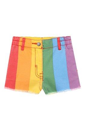 Детские джинсовые шорты STELLA MCCARTNEY разноцветного цвета, арт. 589717/S0KA5 | Фото 1
