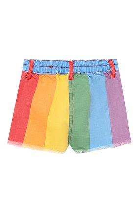 Детские джинсовые шорты STELLA MCCARTNEY разноцветного цвета, арт. 589717/S0KA5 | Фото 2
