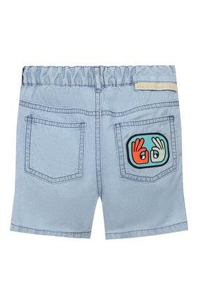 Детские джинсовые шорты STELLA MCCARTNEY голубого цвета, арт. 597992/S0K81 | Фото 2