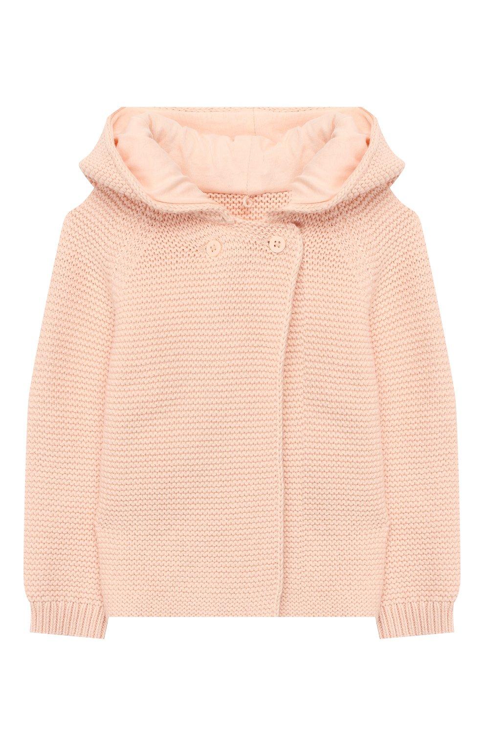 Детский хлопковый кардиган STELLA MCCARTNEY светло-розового цвета, арт. 598046/S0M09   Фото 1