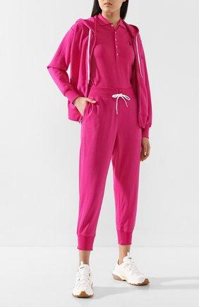 Женский хлопковая толстовка POLO RALPH LAUREN розового цвета, арт. 211780303 | Фото 2