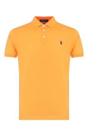 Мужское хлопковое поло POLO RALPH LAUREN оранжевого цвета, арт. 710541705 | Фото 1